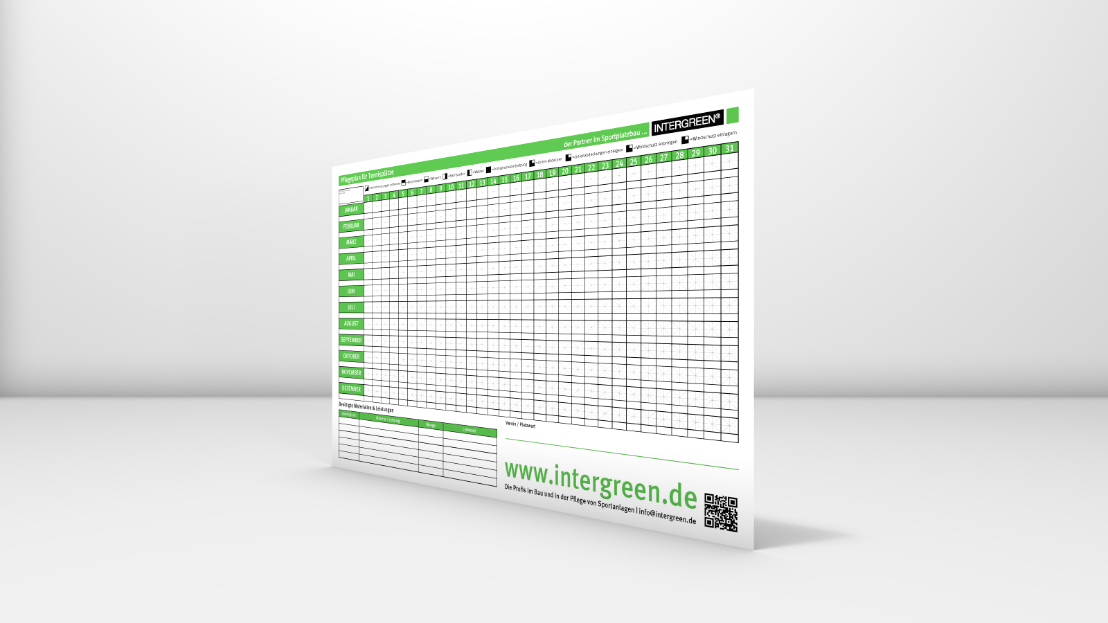INTERGREEN BASIS WEB 20160129 001 Poster Pflegeplan Tennis